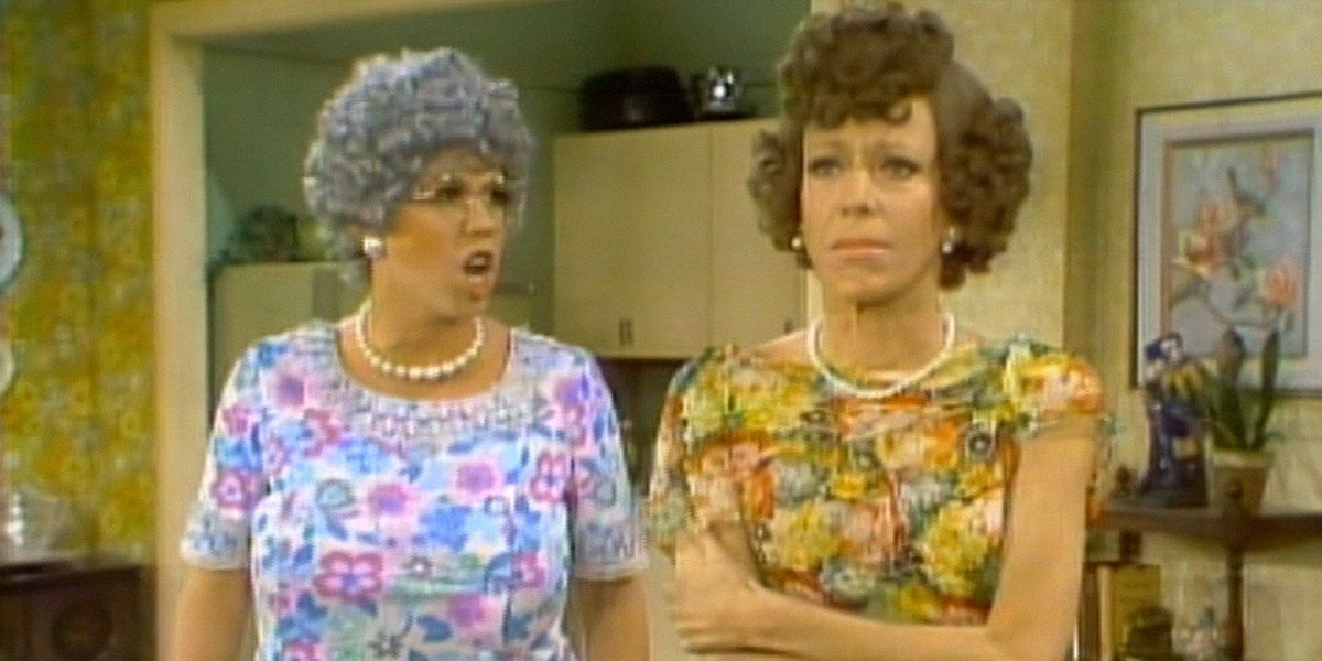 Vicki Lawrence and Carol Burnett in The Carol Burnett Show