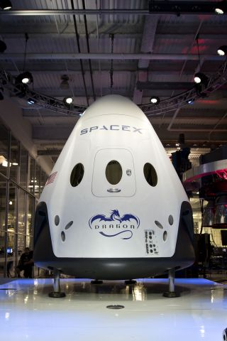 SpaceX's Dragon Version 2 spaceship is designed to be reusable. Image released May 29, 2014.