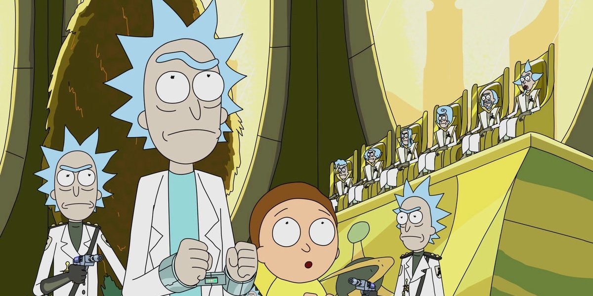 """Rick and Morty in """"Close Rick-Counters of the Rick Kind."""""""