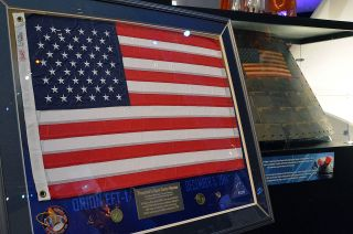 United States Flag at Orion Exhibit
