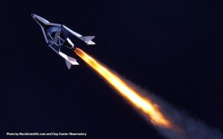 Virgin Galactic SpaceShipTwo Blasts Into the Upper Atmosphere