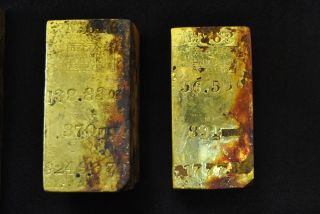 Gold Bars from SS Central America Shipwreck