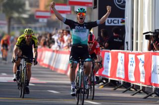 Pascal Ackermann (Bora-Hansgrohe) wins stage 1 at the UAE Tour