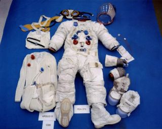 Neil A. Armstrong's space suit as assembled before the flight
