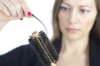 hair loss, brush, woman, hair