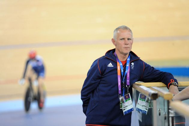 Shane Sutton, GB coach, London 2012 Olympics, track training, 30 July 2012