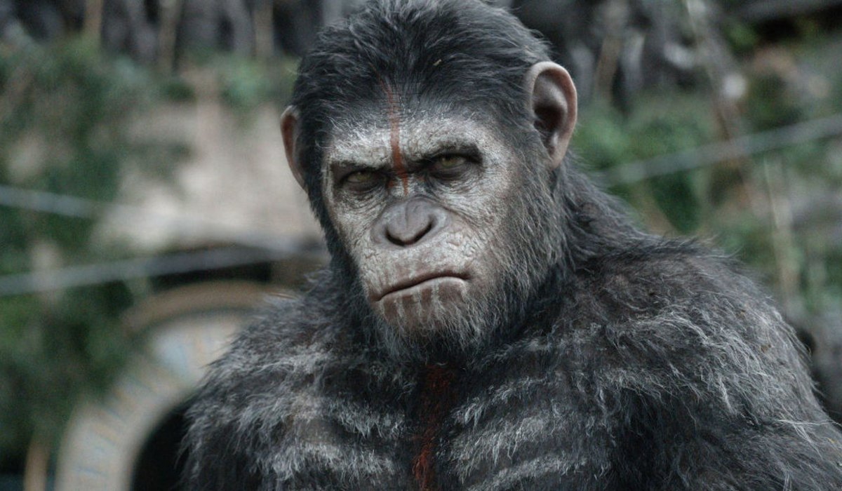 Dawn of the Planet of the Apes Caesar in his war paint