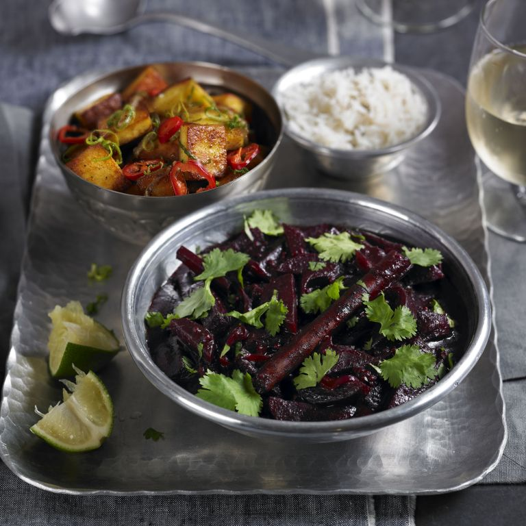 Beetroot and Coconut Curry with Marinated Paneer recipe-recipe ideas-new recipes-woman and home