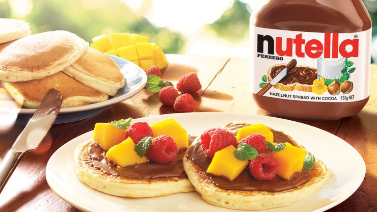 pancake day: nutella