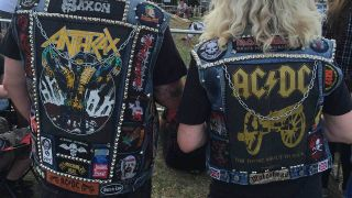 Patch jackets at Bloodstock