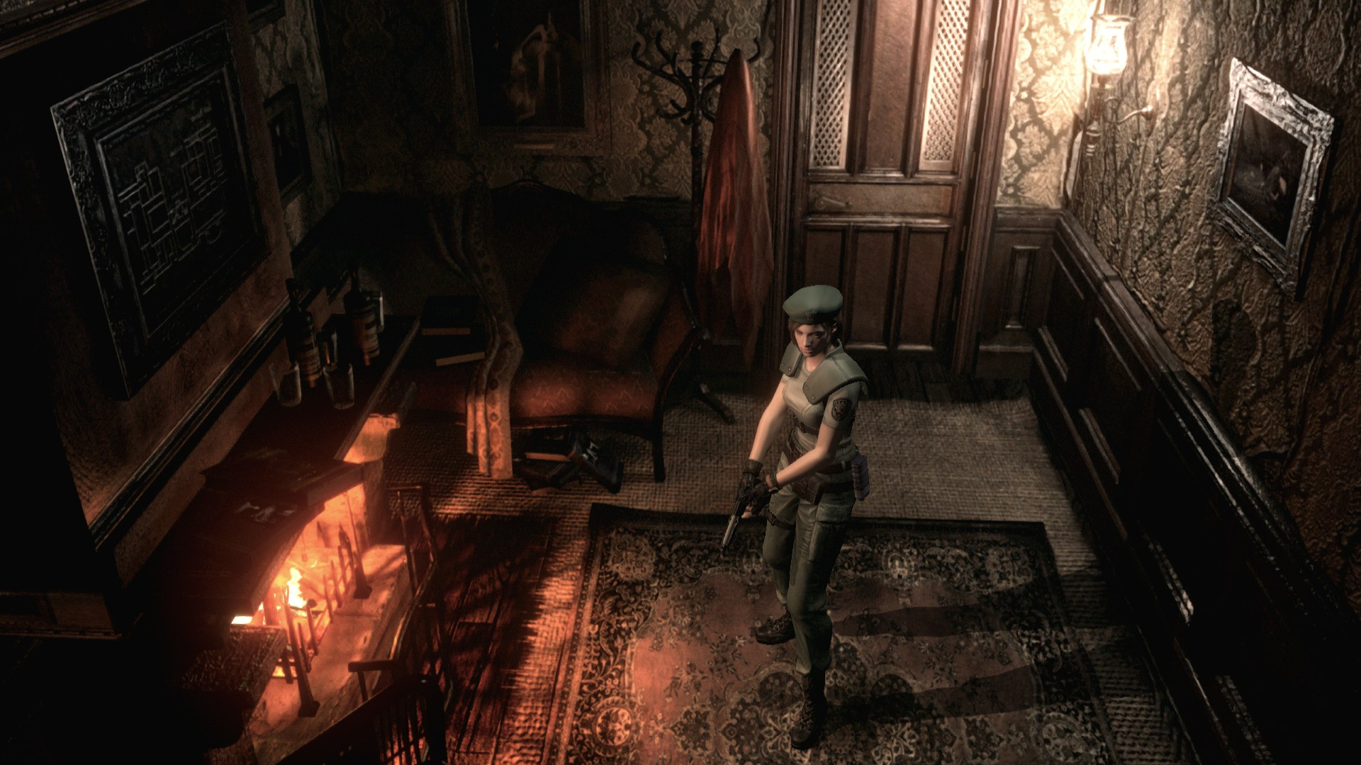 Resident Evil character in empty room