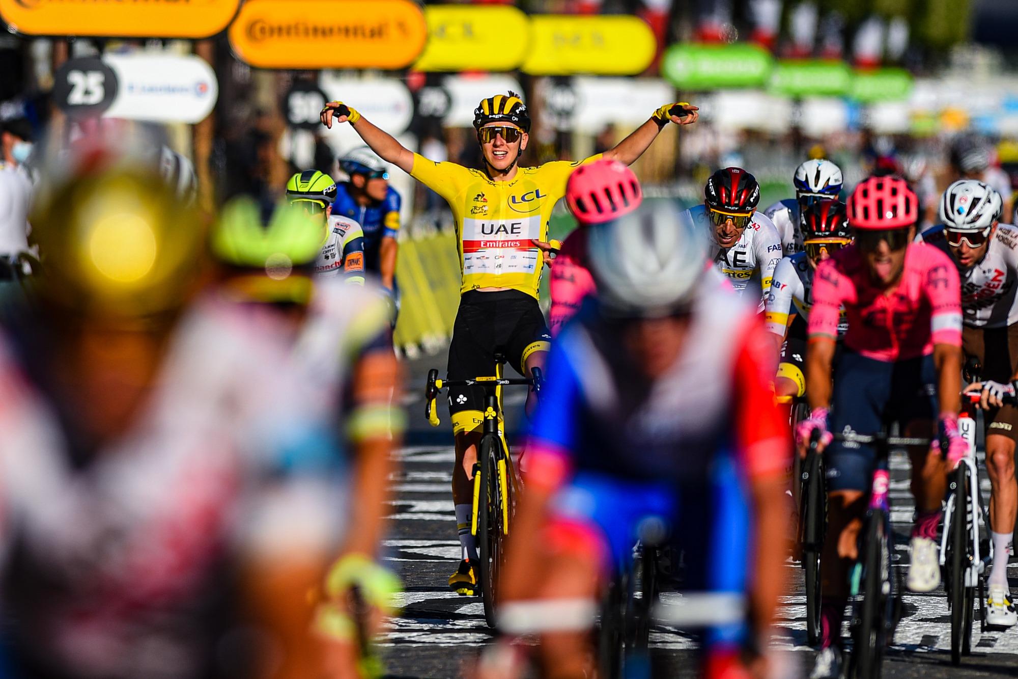 Tour de France 2021 108th Edition 21th stage Chatou Paris Champs Elysees 1084 km 18072021 Tadej Pogacar SLO UAE Team Emirates photo Dario BelingheriBettiniPhoto2021
