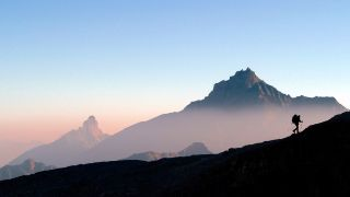 solo backpacking: solo hiker in Gran Paradiso National Park