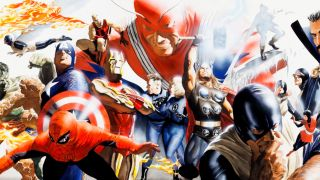 Marvel heroes by Alex Ross