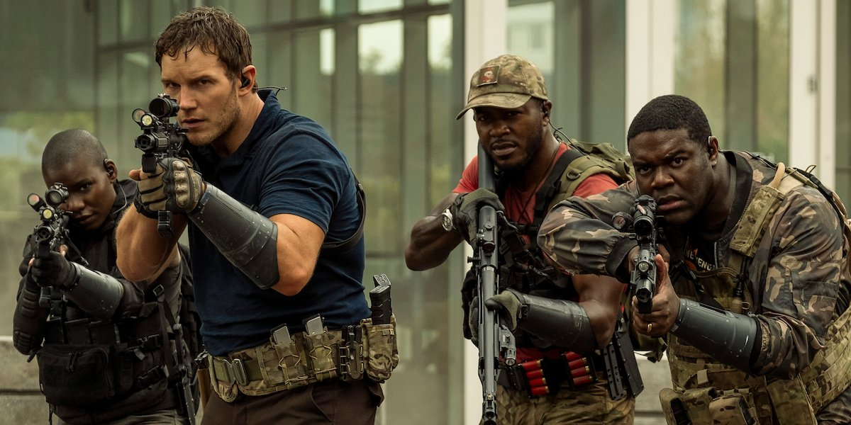 Chris Pratt and the cast of The Tomorrow War