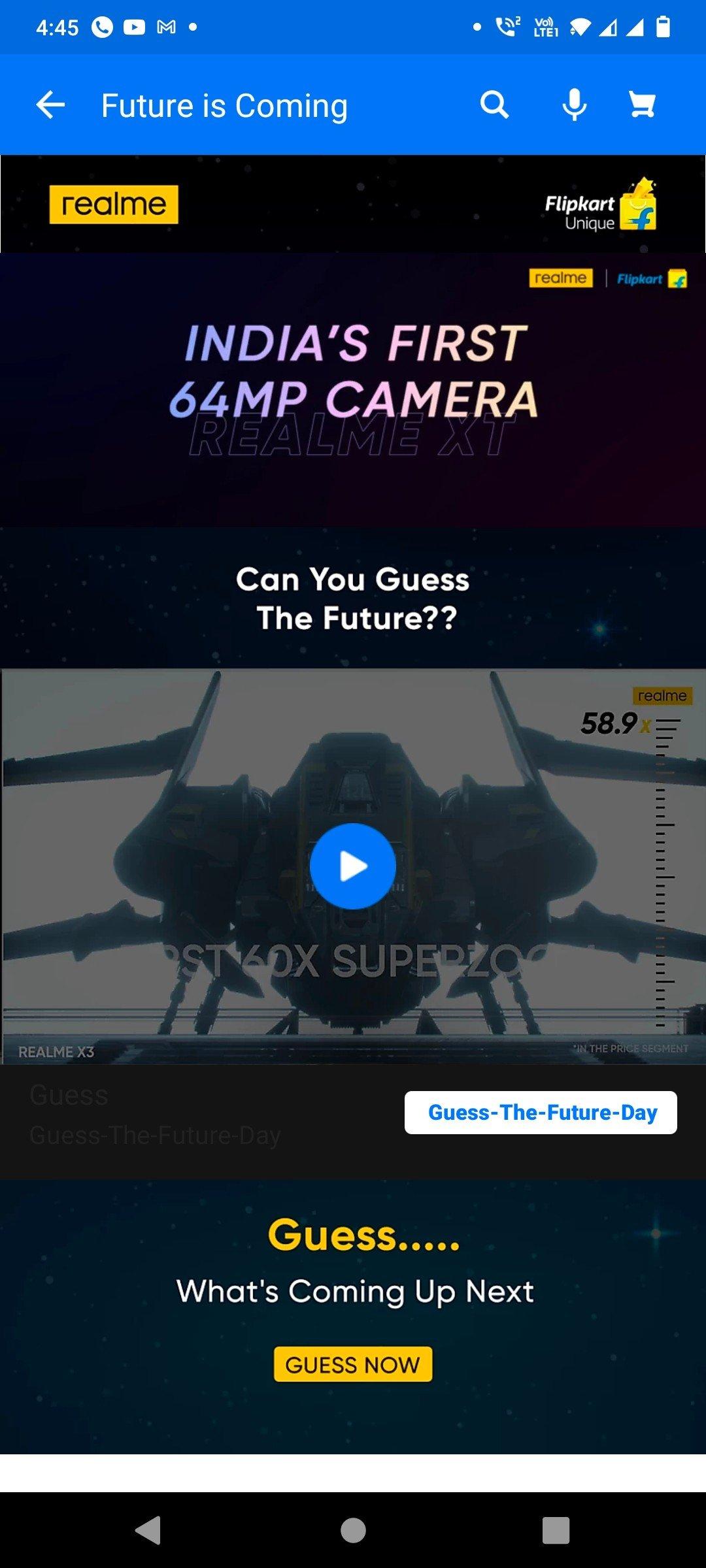 Realme X7 teaser page on Flipkart
