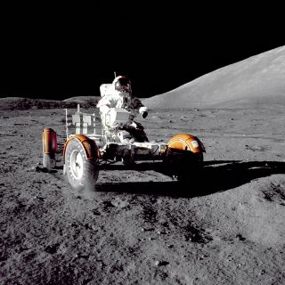 Gene Cernan and Apollo 17 Rover