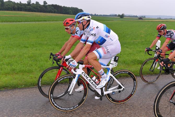 Alexander Kristoff (UAE Team Emirates) and Simon Spilak (Katusha Alpecin)