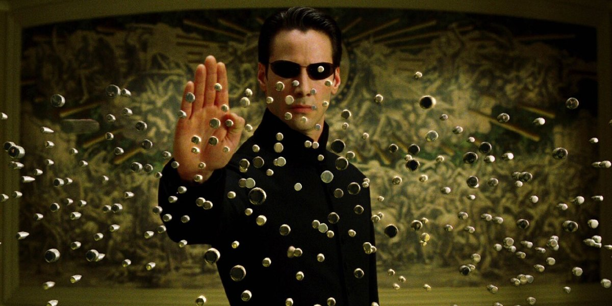 Keanu Reeves in The Matrix Reloaded