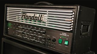 A press shot of Kirk Hammett's new amp head