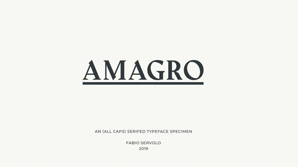 Free font - Amagro
