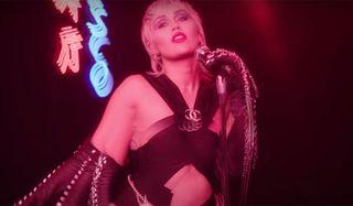 Miley Cyrus in Midnight Sun music video.
