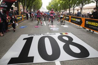 Wouter Weylandt is remembered at the 2021 Giro d'Italia