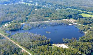 A giant sinkhole formed overnight in southeast Louisiana on Aug. 3, 2012.