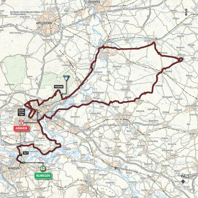 The stage 3 map of the Giro d'Italia