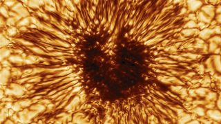 The Inouye Solar Telescope, the most powerful solar telescope, released its first highly-detailed image of a sunspot in December 2020.