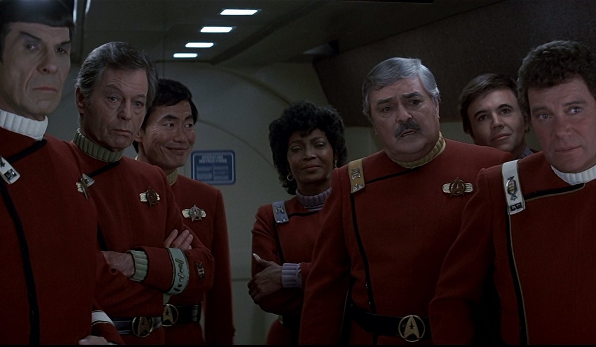 Star Trek IV: The Voyage Home The Enterprise crew looks out at their new ship