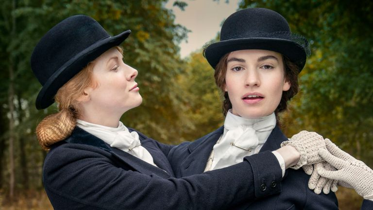 Emily Beecham and Lily James in BBC's The Pursuit of Love