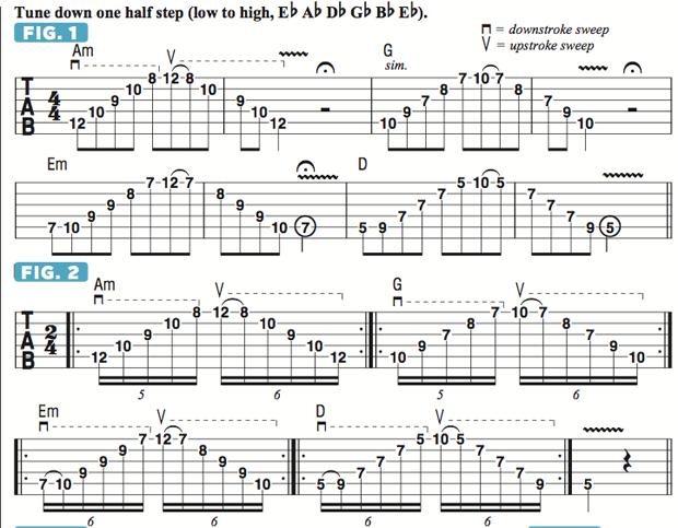 Applying Sweep Picking to Chord Progressions | Guitarworld