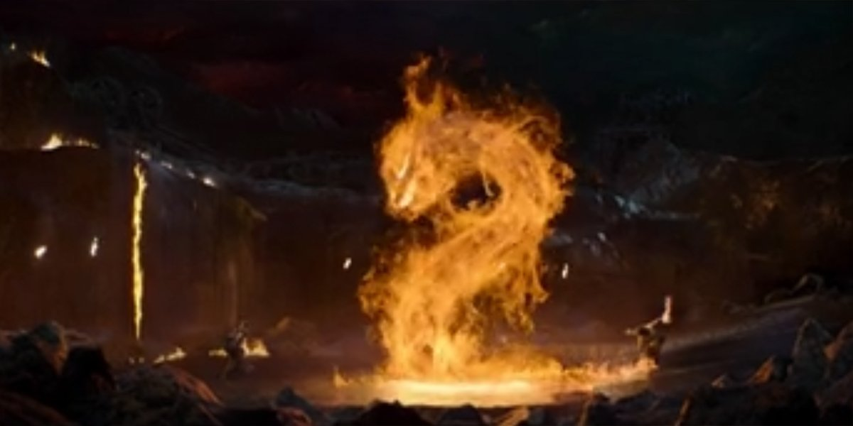 Liu Kang Summons His Fire Dragon To Eat Kabal Mortal Kombat