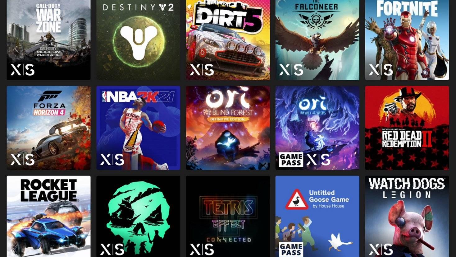 Xbox Series X game list