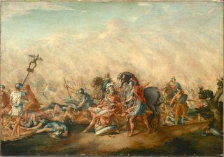 Death of Paulus Aemilius at the Battle of Cannae
