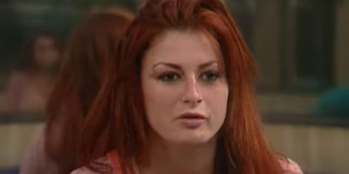 Rachel Reilly looking shocked on Big Brother CBS
