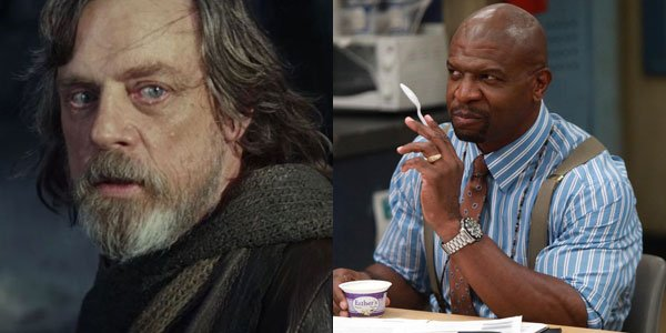 terry crews and Mark Hamill chat