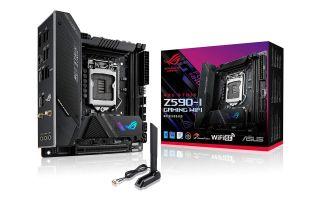 Asus ROG Strix Z590-I motherboard and box