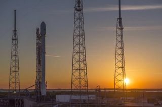 SpaceX's Falcon 9 Rocket on the Pad