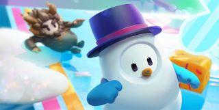Fall Guys snowman costume