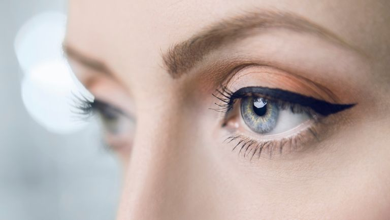Close-Up Of Woman Eyes - stock photo