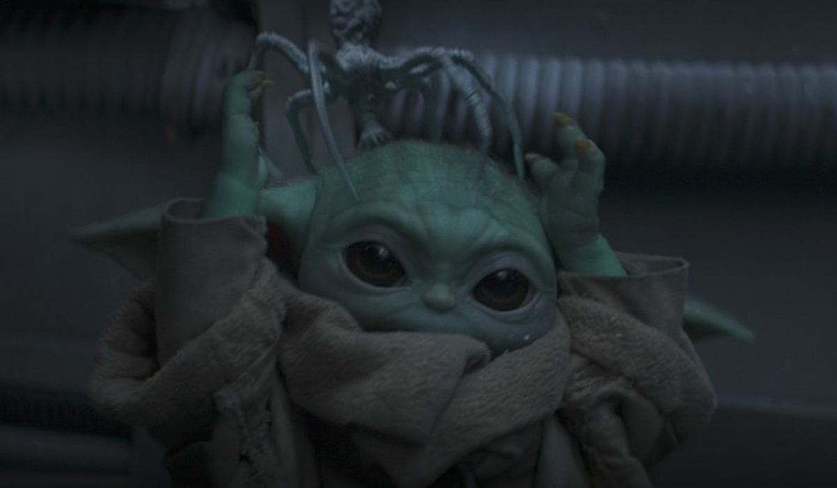Baby Yoda and spider creatures