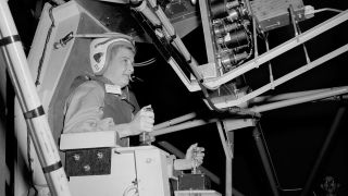 Jerrie Cobb trained on NASA's Multi-Axis Space Test Inertia Facility (MASTIF) in 1960, shortly after the male Mercury 7 astronauts did so.