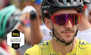 Adam Yates in yellow before stage 9 of the Tour de France