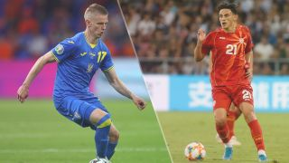 Ukraine vs North Macedonia live stream at Euro 2020 —Oleksandr Zinchenko of Ukraine and Elif Elmas of North Macedonia
