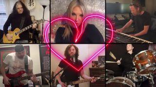 Skolnick Benante supergroup covers Stop Draggin' My Heart Around