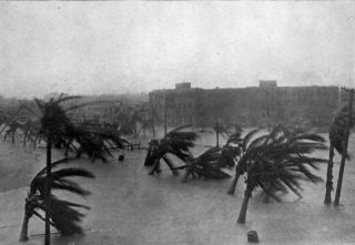 "During the ""Great Miami Hurricane of 1926,"" the storm surge combined with tide measured 15 feet (4.6 meters)."