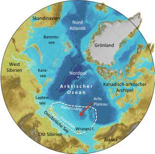 Siberia ice sheet