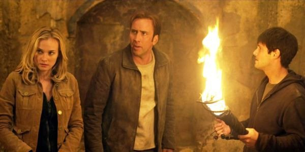 National Treasure cast with Nicholas Cage